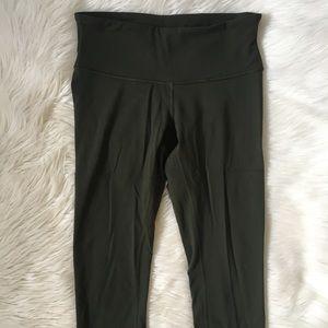 lululemon athletica Pants - Lululemon Green Wunder Under Leggings